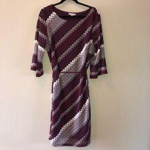 Dressbarn Belted Sheath Dress Size 18 Woman